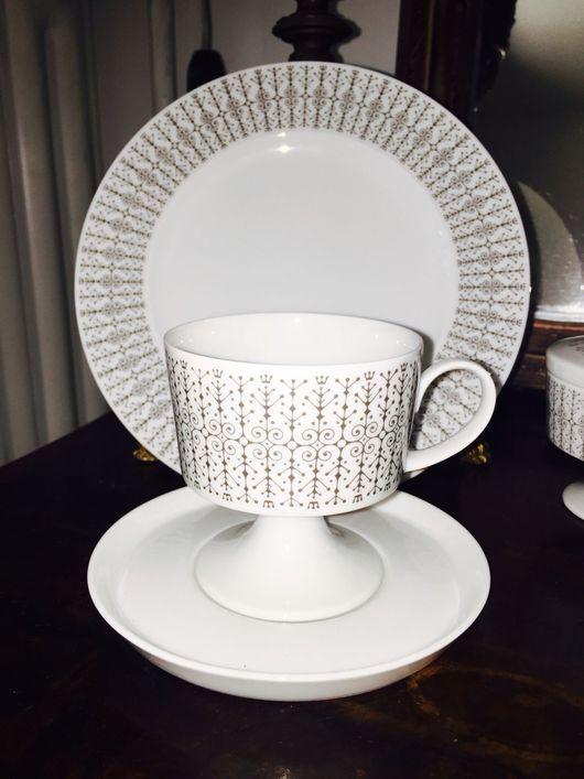 Винтажная посуда. Ярмарка Мастеров - ручная работа. Купить Оригинальное фарфоровое трио Розенталь 60x  годов Tapio Wirkkala. Handmade.