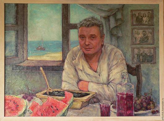 Люди, ручной работы. Ярмарка Мастеров - ручная работа. Купить картина. портрет.слегка юмористический портрет Сергея М.. Handmade.