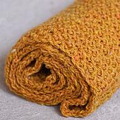 Аксессуары ручной работы. Ярмарка Мастеров - ручная работа Шарф снуд хомут вязаный спицами оранжево-жёлтый. Handmade.