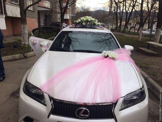 Свадебные аксессуары ручной работы. Ярмарка Мастеров - ручная работа. Купить Украшение на машину невесты. Комплект. Handmade. Белый