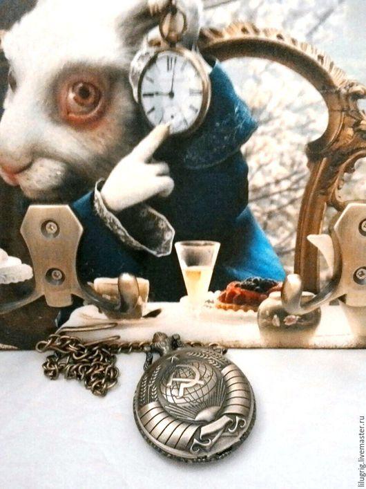 """Часы ручной работы. Ярмарка Мастеров - ручная работа. Купить Часы карманные """"СССР"""". Handmade. Часы, часы в подарок"""