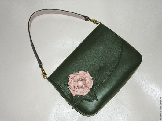 Женские сумки ручной работы. Ярмарка Мастеров - ручная работа. Купить Сумочка и брошь Изумруд. Handmade. Тёмно-зелёный