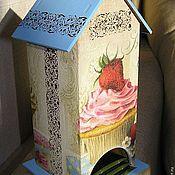 """Для дома и интерьера ручной работы. Ярмарка Мастеров - ручная работа Чайный домик """"Вкусный десерт"""". Handmade."""