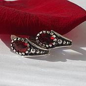 Украшения handmade. Livemaster - original item Earrings with garnet