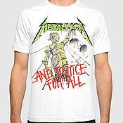 "Одежда handmade. Livemaster - original item Футболка ""Metallica - And Justice For All"". Handmade."