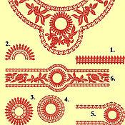 Материалы для творчества ручной работы. Ярмарка Мастеров - ручная работа цветочный орнамент - набор дизайнов для машинной вышивки. Handmade.