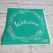 Материалы для творчества handmade. Livemaster - original item Product copy 6818 Adhesive-based reusable stencil. Handmade.