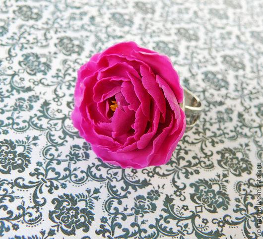 """Кольца ручной работы. Ярмарка Мастеров - ручная работа. Купить кольцо """"Пион"""". Handmade. Кольцо, volnami"""