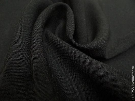 Шитье ручной работы. Ярмарка Мастеров - ручная работа. Купить Ткань габардин  черный. Handmade. Черный, ткани для рукоделия