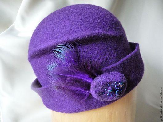 """Шляпы ручной работы. Ярмарка Мастеров - ручная работа. Купить Шляпка валяная """" Крокус"""". Handmade. Фиолетовый, эксклюзивная шляпка"""