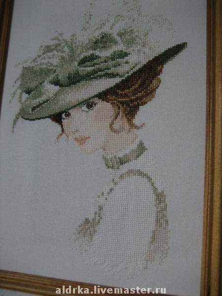 Люди, ручной работы. Ярмарка Мастеров - ручная работа. Купить женнский портрет. Handmade. Картина, ручная вышивка, картина в подарок