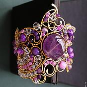 Украшения handmade. Livemaster - original item Bracelet Amethyst Midnight. Handmade.
