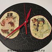 """Для дома и интерьера ручной работы. Ярмарка Мастеров - ручная работа Часы """"ОН и ОНА"""". Handmade."""