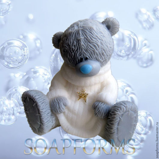 Форма силиконовая для мыла `Мишка Тедди в свитере 2`