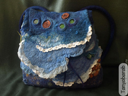 """Женские сумки ручной работы. Ярмарка Мастеров - ручная работа. Купить Рюкзак-сумка """" Я еду к морю..."""". Handmade."""