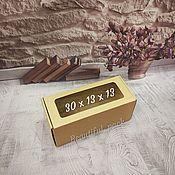 Коробки ручной работы. Ярмарка Мастеров - ручная работа КОРОБКА ШКАТУЛКА с ОКНОМ из МГК 30 х 13 х 13 см. Handmade.