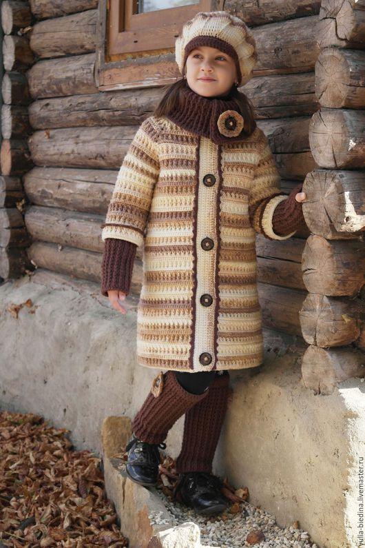 """Одежда для девочек, ручной работы. Ярмарка Мастеров - ручная работа. Купить Пальто для девочки """"Latte"""". Handmade. Авторская ручная работа"""