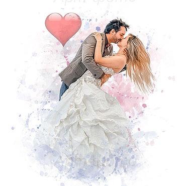 """Дизайн и реклама ручной работы. Ярмарка Мастеров - ручная работа Портрет в стиле """"Love is..."""". Handmade."""