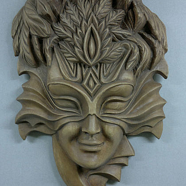 Для дома и интерьера ручной работы. Ярмарка Мастеров - ручная работа Венецианская резная маска из дерева (сосна). Handmade.