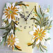Для дома и интерьера ручной работы. Ярмарка Мастеров - ручная работа часы из стекла, фьюзинг   Майская нежность. Handmade.
