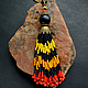 """Кулоны, подвески ручной работы. Ярмарка Мастеров - ручная работа. Купить Подвеска """"Африканский сувенир"""" - чешский бисер и стекло, дерево,коралл. Handmade."""