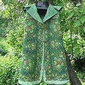 Одежда ручной работы. Ярмарка Мастеров - ручная работа Пальто-жилет валяное павловопосадский платок нунофелтинг. Handmade.