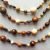 Украшения handmade. Livemaster - original item Wooden multistrand necklace. Handmade.