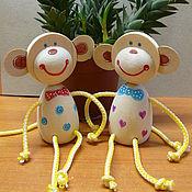 Куклы и игрушки ручной работы. Ярмарка Мастеров - ручная работа Весёлая обезьянка. Handmade.
