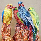 Подарки к праздникам handmade. Livemaster - original item Ceramic parrot. Handmade.