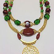 Украшения handmade. Livemaster - original item Set in the ethnic style crystal and aventurine Oriental tales.. Handmade.
