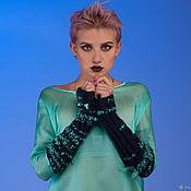 Одежда handmade. Livemaster - original item Pullover oversize Loose pullover top silk blouse organza. Handmade.