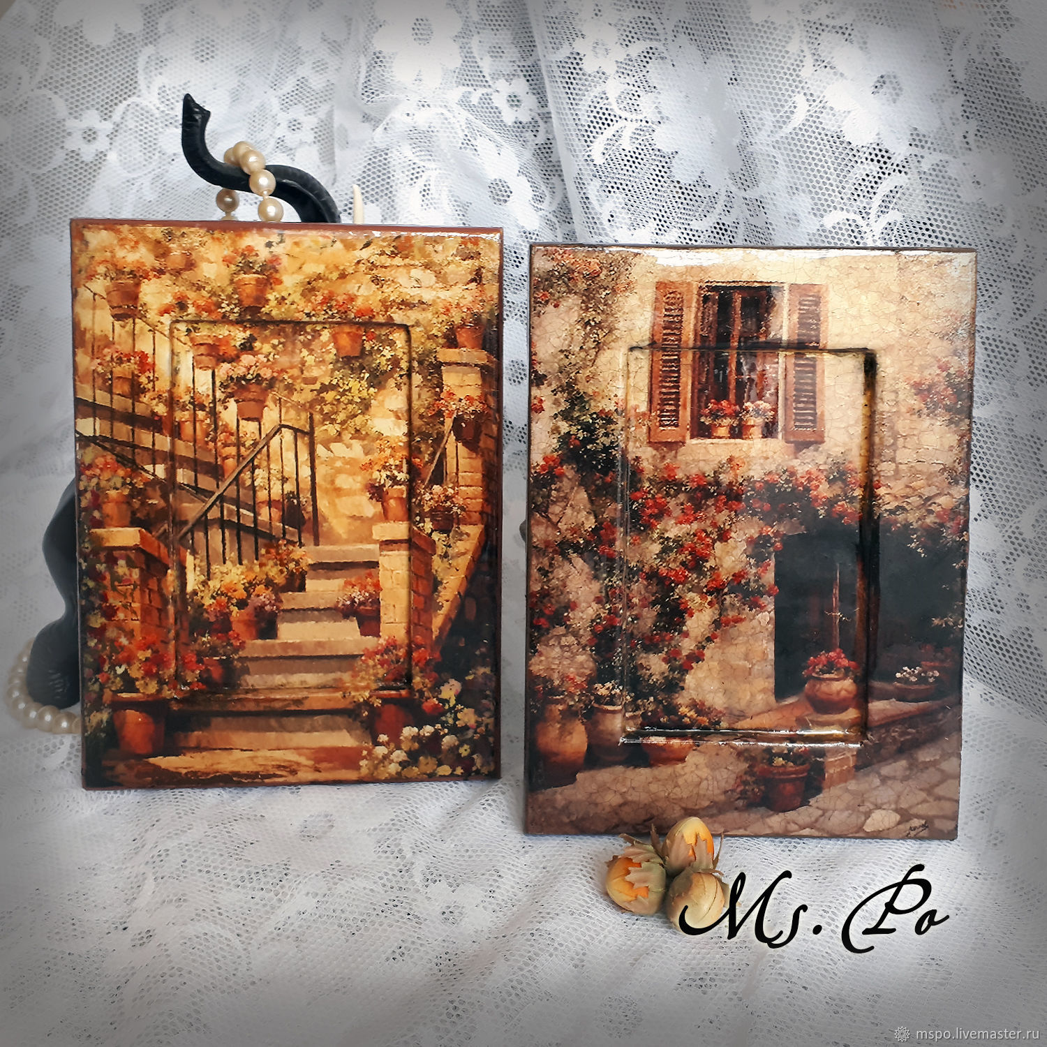 Landscapes handmade. Livemaster - handmade. Buy Picture - panel 'Francuskie yards'.Gift, panels on the wall, housewarming gift