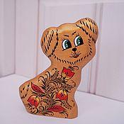 Мини фигурки и статуэтки ручной работы. Ярмарка Мастеров - ручная работа Хохломская собачка (деревянная). Handmade.