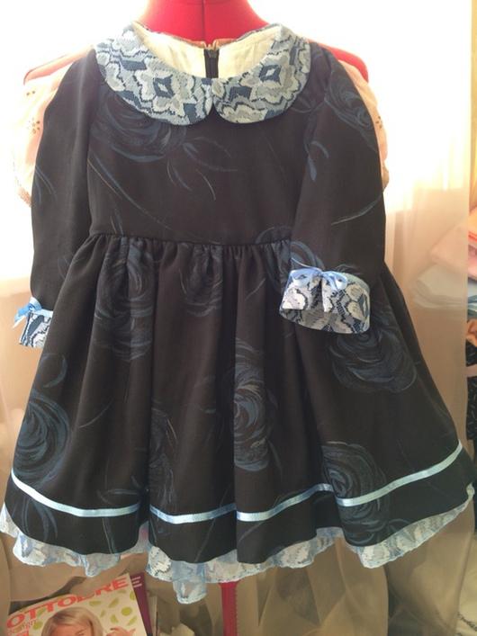 Одежда для девочек, ручной работы. Ярмарка Мастеров - ручная работа. Купить Маленькое черное платье. Handmade. Платье нарядное, гипюр