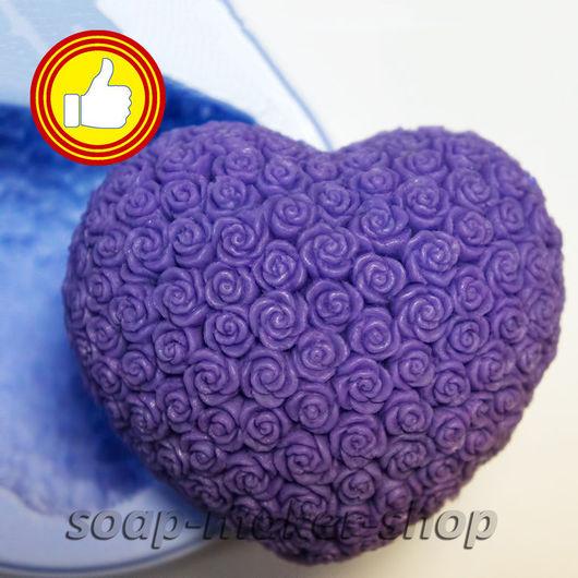Материалы для косметики ручной работы. Ярмарка Мастеров - ручная работа. Купить Силиконовая форма для мыла «Сердце в розах». Handmade.