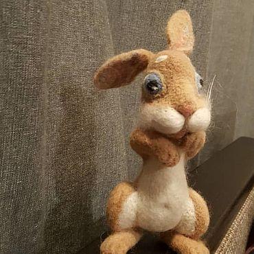 Куклы и игрушки ручной работы. Ярмарка Мастеров - ручная работа Трусишка зайка серенький. Handmade.