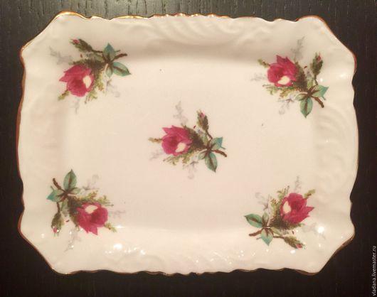 Винтажная посуда. Ярмарка Мастеров - ручная работа. Купить Винтажное миниатюрное блюдо от Hammersley. Handmade. Белый, английская роза, винтаж