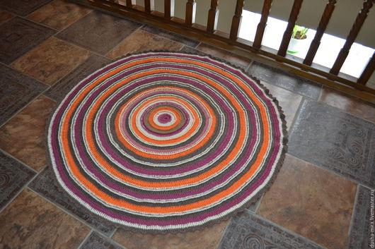 """Текстиль, ковры ручной работы. Ярмарка Мастеров - ручная работа. Купить Коврик """"Оранжевый"""" для домашнего интерьера или бани. Handmade."""