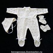 Работы для детей, ручной работы. Ярмарка Мастеров - ручная работа Комплект для новорожденных Малютка. Handmade.
