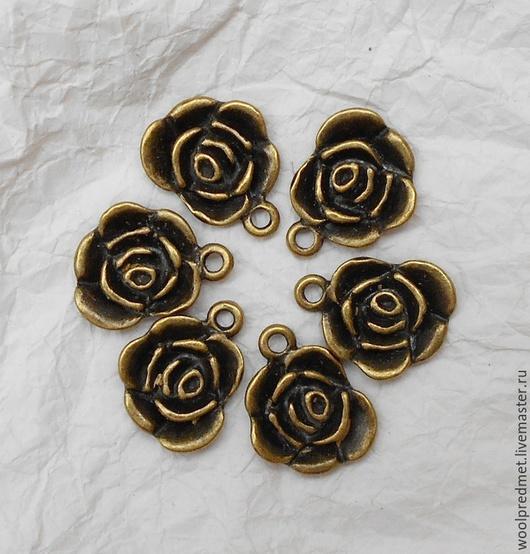 Для украшений ручной работы. Ярмарка Мастеров - ручная работа. Купить Роза подвеска. Handmade. Подвеска для украшений, цветок