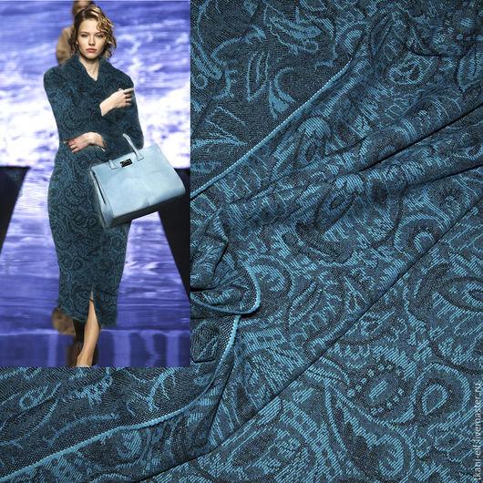 Шитье ручной работы. Ярмарка Мастеров - ручная работа. Купить Ткань двусторонний шерстяной жаккард пальтово-костюмный. Handmade.