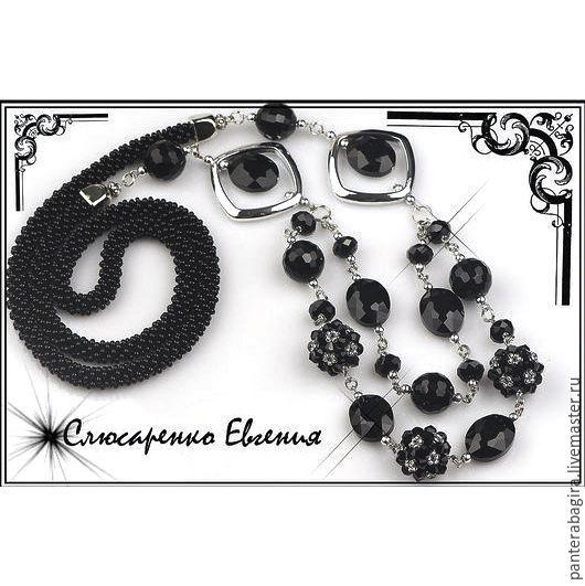 Necklaces & Beads handmade. Livemaster - handmade. Buy camellia.Long necklace, glass beads