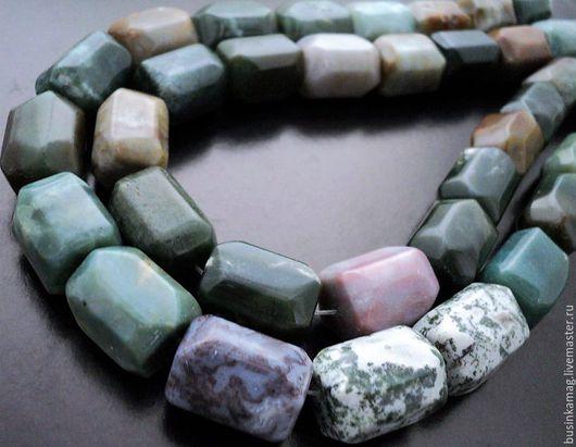 Для украшений ручной работы. Ярмарка Мастеров - ручная работа. Купить Яшма граненые крупные камни 21-22мм, нитка 9шт. Handmade.