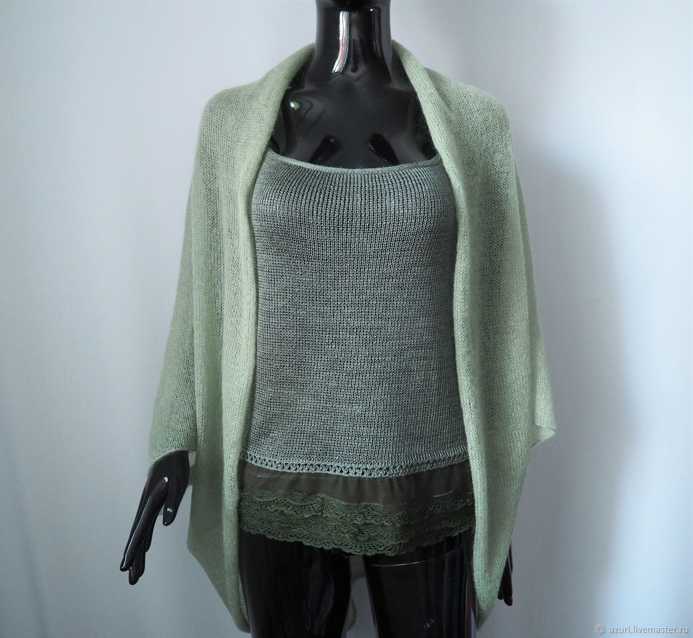 Bolero & Shrug Clothing handmade. Livemaster - handmade. Buy Cape-Bolero jacket from kid-mohair.Gift, emerald
