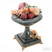 Sculpture handmade. Livemaster - original item A gift to the head of the stone-carving fruit bowl. Handmade.