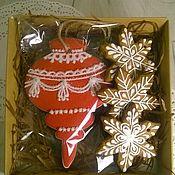 Пряники ручной работы. Ярмарка Мастеров - ручная работа Новогодний набор с елочной игрушкой. Handmade.