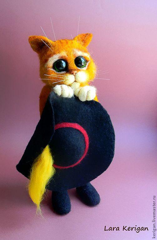 Игрушки животные, ручной работы. Ярмарка Мастеров - ручная работа. Купить Кот в сапогах. Handmade. Рыжий, мультгерой, полимерная глина