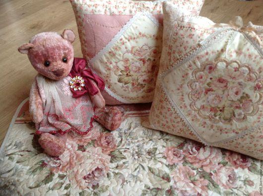 """Текстиль, ковры ручной работы. Ярмарка Мастеров - ручная работа. Купить """" Дамские штучки"""" подушки. Handmade. Розовый, винтаж"""
