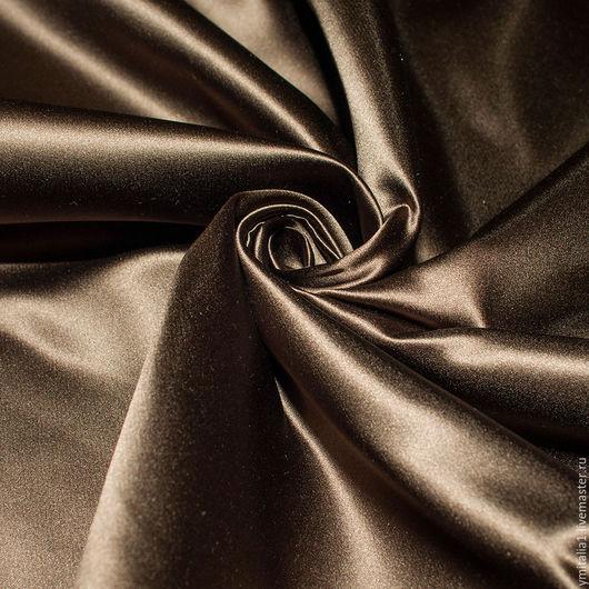 Шитье ручной работы. Ярмарка Мастеров - ручная работа. Купить Шелк атласный  ESCADA золотисто-коричневый. Handmade. Платье из шелка