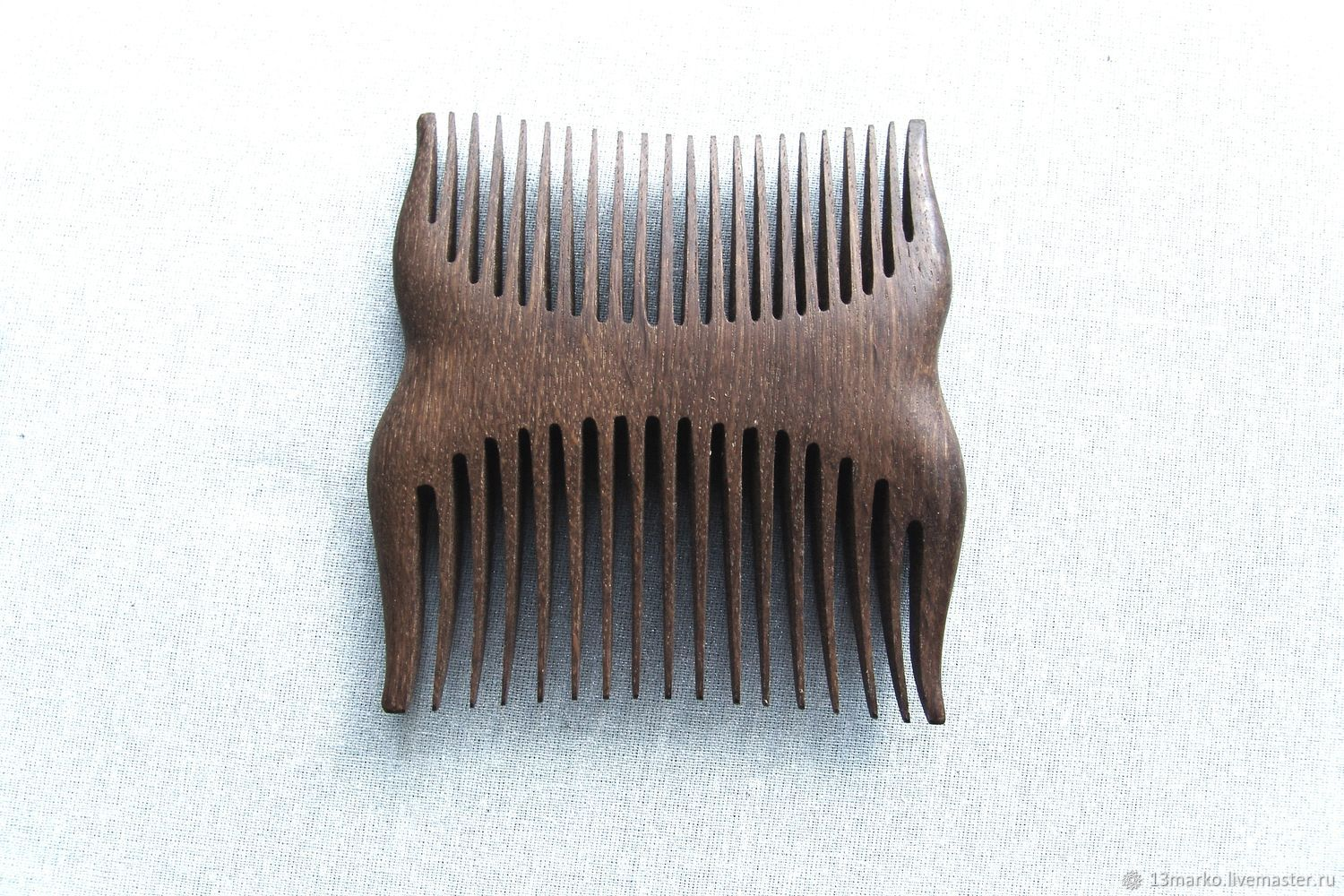 Comb wooden 'Double' oak, Combs, Moscow,  Фото №1